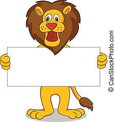 lion, vecteur, dessin animé, illustration