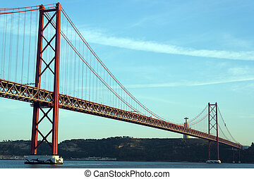 lisbonne, avril 25e pont, portugal