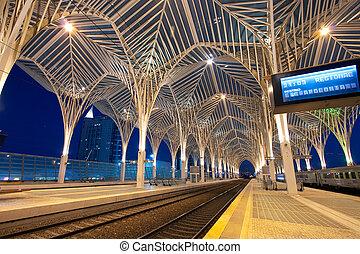 lisbonne, station, orient, portugal