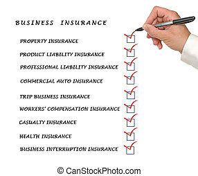 liste, chèque, assurance commerciale