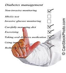 liste contrôle, managment, diabète