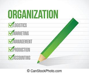 liste, illustration, marque, conception, organisation, chèque