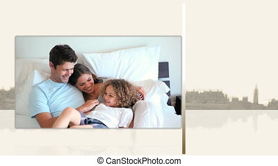 lit, vidéos, familles