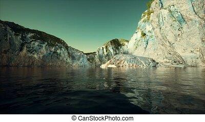 littoral, pierre, falaise, portugal