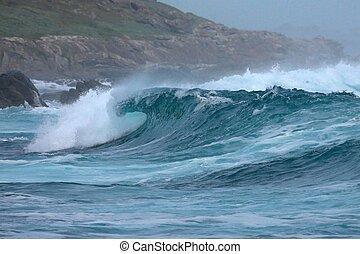 littoral, vagues