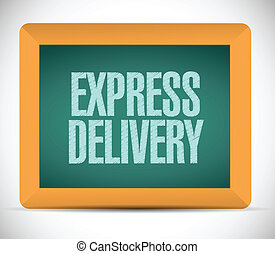 livraison, board., message, exprès