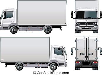 livraison, /, camion, cargaison