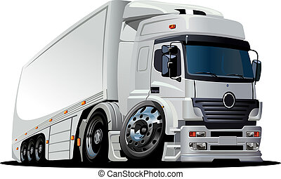livraison, camion cargaison, dessin animé, /