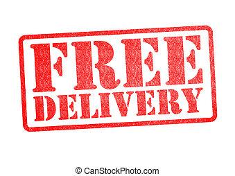 livraison, caoutchouc, gratuite, timbre