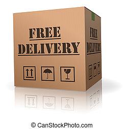 livraison, gratuite, ordre, expédition, paquet