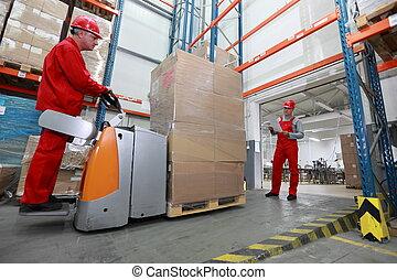 livraison, marchandises, entrepôt