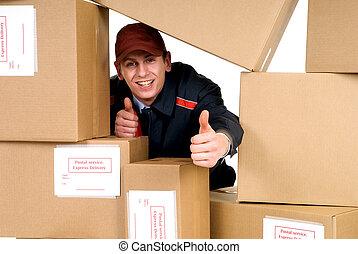 livraison, service postal