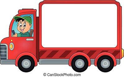livraison, voiture, thème, 2, image