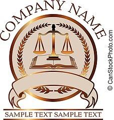 livre, avocat, justice, or, ou, cachet, balances, droit & loi, -
