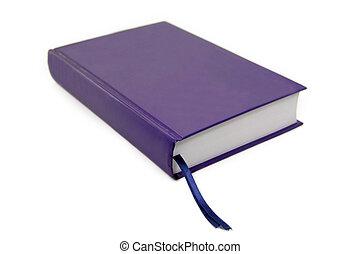 livre bleu, isolé