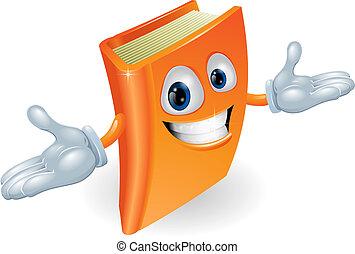 livre, caractère, dessin animé, mascotte