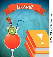 livre, cocktail, recette
