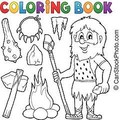 livre coloration, préhistorique