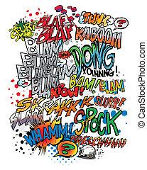 livre comique, mots