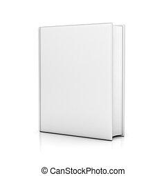 livre, couvertures, vide, blanc