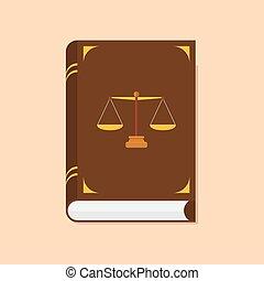 livre, justice, icône, droit & loi