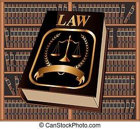 livre loi, bibliothèque, cachet