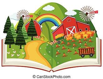livre, pop, agriculture, haut