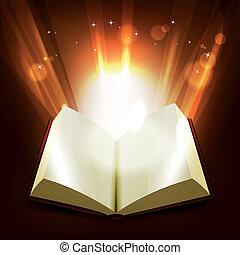 livre, saint, magie