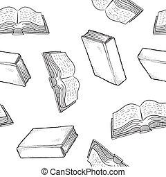 livre, seamless, fond