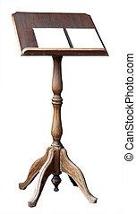 livre, space., lutrin, copie, ouvert