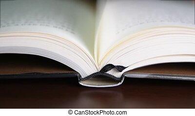 livre, tourner, pages
