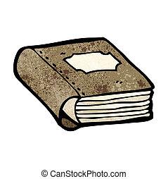 livre, vieux, dessin animé