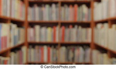 livres, fond, statically, étagères