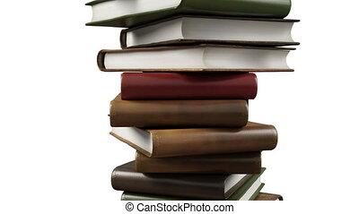 livres, moderne, pile