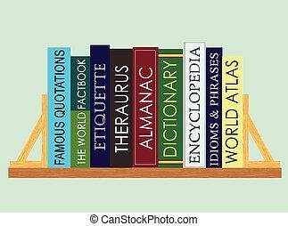 livres, référence, (vector)