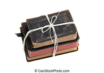 livres, vieux, pile