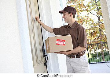 livreur, paquet