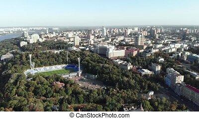 lobanovskyi, dynamo, vue aérienne, stade, kyiv