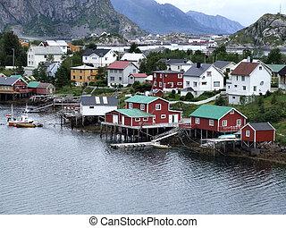 lofoten, norvège, townscape
