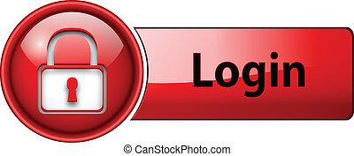 login, button., icône