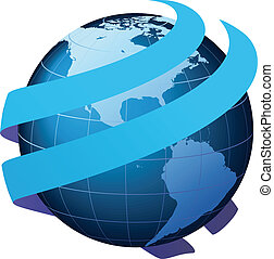 logistique, communication affaires, global, -, communication