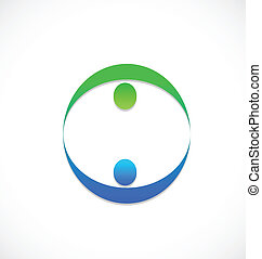logo, équipe, affaires gens, partenaires