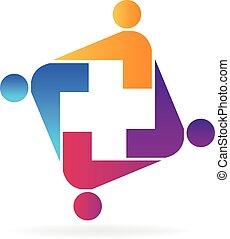 logo, équipe soignant
