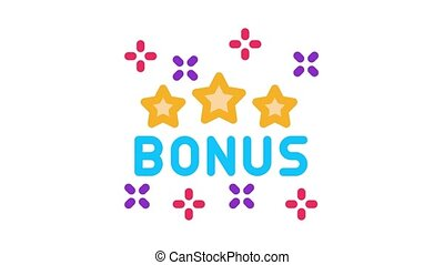 logo, étoile, bonification, animation, icône