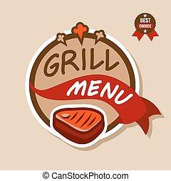 logo, 2, menu, gril