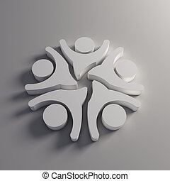 logo, 3d, gens