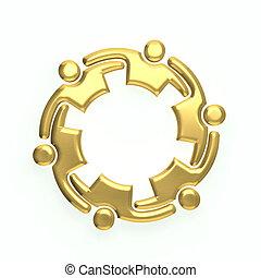 logo, 3d, or, gens