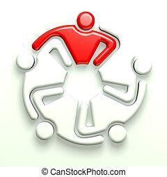 logo, 5, éditorial, business, 3d
