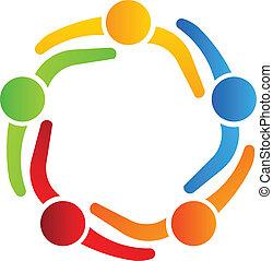 logo, 5, conception, associés