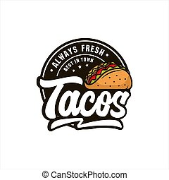 logo, always, tacos, vecteur, frais